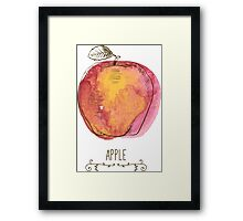 fresh useful eco-friendly apple Framed Print