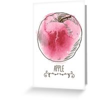 fresh useful eco-friendly apple Greeting Card
