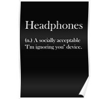 Headphones Poster