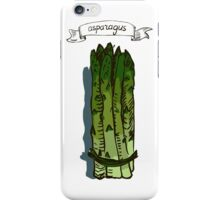 watercolor hand drawn vintage illustration of asparagus iPhone Case/Skin