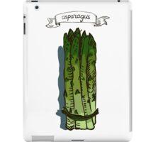 watercolor hand drawn vintage illustration of asparagus iPad Case/Skin