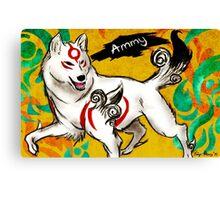 Okami-Amaterasu Canvas Print
