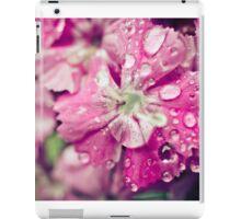 Pink Flower Droplets iPad Case/Skin