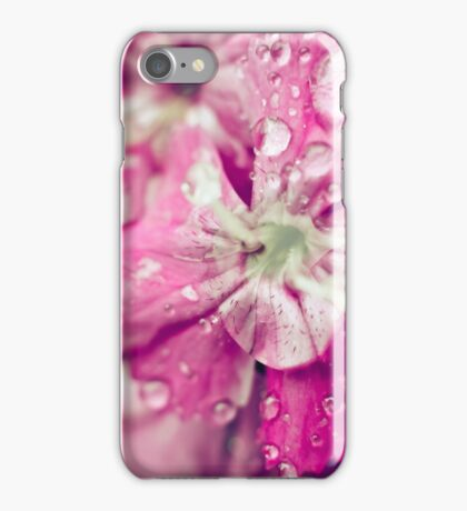 Pink Flower Droplets iPhone Case/Skin