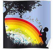 Kid bubble Poster
