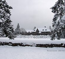 Castle Covered in Snow, Watch Hill, Rhode Island by Maureen Zaharie