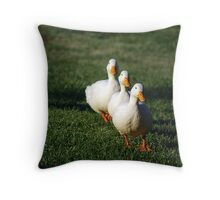 Waddle Waddle Waddle Throw Pillow