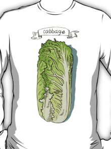 watercolor hand drawn vintage illustration of cabbage T-Shirt