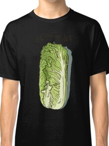 watercolor hand drawn vintage illustration of cabbage Classic T-Shirt