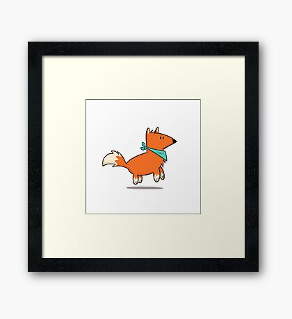 Fox Hop Framed Print