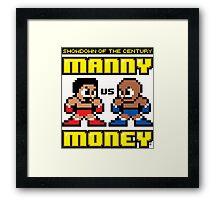 Mega Manny vs. Mega Money Framed Print