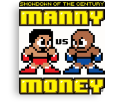 Mega Manny vs. Mega Money Canvas Print