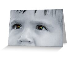 Through a Childs Eyes Greeting Card
