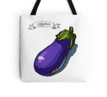 watercolor hand drawn vintage illustration of eggplant Tote Bag