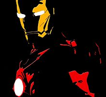 The Avengers - Iron Man Minimal Figure Black Background by TylerMellark