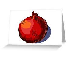 watercolor hand drawn vintage illustration of pomergranate Greeting Card