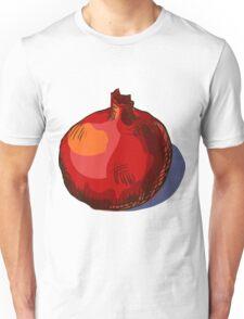 watercolor hand drawn vintage illustration of pomergranate Unisex T-Shirt