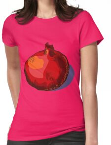 watercolor hand drawn vintage illustration of pomergranate Womens Fitted T-Shirt