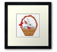 Easter Bunny in Basket Framed Print