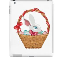 Easter Bunny in Basket iPad Case/Skin