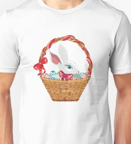 Easter Bunny in Basket Unisex T-Shirt