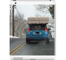 Driving to Watch Hill in the Snow iPad Case/Skin