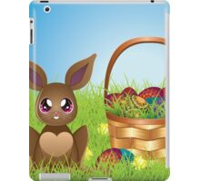 Easter Bunny with Eggs in the Basket iPad Case/Skin