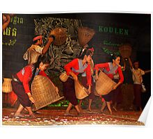 Cambodian Dancers - Siem Reap Poster