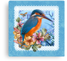 Kingfisher Spring Canvas Print