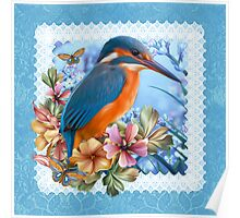 Kingfisher Spring Poster
