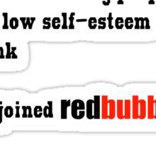 Artist's Statement (black lettering) Sticker