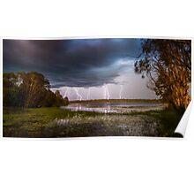 Lightning Storm - NT Australia Poster