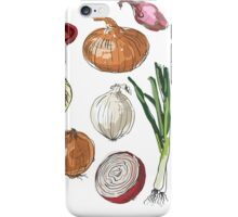 illustration of retro organic Onions set iPhone Case/Skin