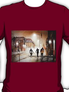 Britain's cold night in warm colors. T-Shirt