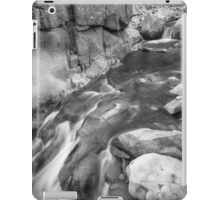 Rocky Mountain Canyon Streaming in Black and White iPad Case/Skin