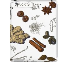 illustration background with hand drawn spices iPad Case/Skin