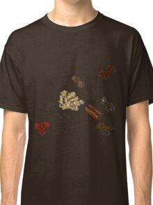 illustration background with hand drawn spices Classic T-Shirt