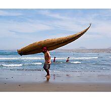 fisherman, Huanchaco, Trujillo, Peru Photographic Print