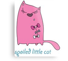 Spoiled Little Cat Metal Print
