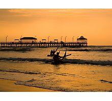 Sunset, Huanchaco, Trujillo, Peru Photographic Print