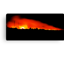 Fire in Night Sky - Melbourne Canvas Print