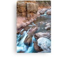 Rocky Mountain Canyon Streaming Metal Print
