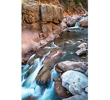 Rocky Mountain Canyon Streaming Photographic Print