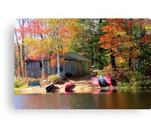 Milford House Canoe Shed Canvas Print