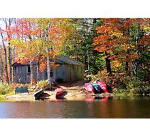 Milford House Canoe Shed Photographic Print