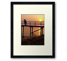 Sunset on sand Framed Print