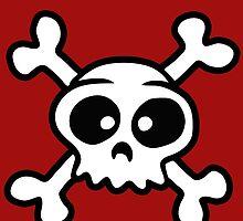 skull funny pirat cartoon by huggymauve