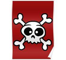 skull funny pirat cartoon Poster