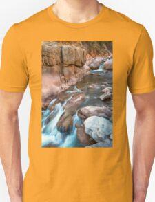 Rocky Mountain Canyon Streaming Unisex T-Shirt