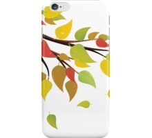 Fall Leaves on Branch 2 iPhone Case/Skin